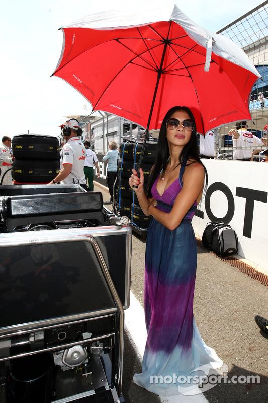 Nicole Scherzinger, chanteuse des Pussycat Dolls et petite amie de Lewis Hamilton
