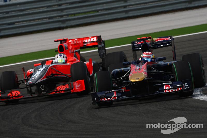 Timo Glock, Virgin Racing en Sebastien Buemi, Scuderia Toro Rosso