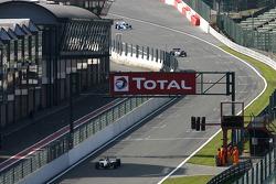 #24 Norbert Gruber, Dallara Nissan WS and #3 Klaas Zwart, Ascari Benetton B197 F1 and #65 Alain DeBlandre, Lola T8900 Indycar