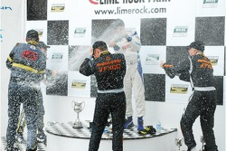 GT podium: champagne for all