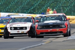 #16 Multimatic Motorsports Ford Mustang Boss 302 R: Gunnar Jeannette, Frank Montecalvo, #17 CMA Motorsports Ford Mustang GT: Peter Ludwig, Mark Ackley