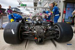 #4 Team Oreca Matmut Peugeot 908 engine detail