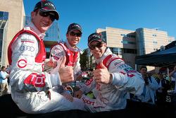 Romain Dumas, Mike Rockenfeller and Timo Bernhard