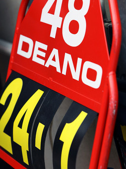Pit board for Dean Stoneman