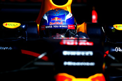 Max Verstappen, Red Bull Racing RB12 as he exits the garage