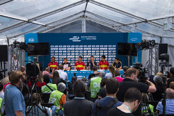 Press conference: Jürgen Abt, Nick Heidfeld, Daniel Abt, René Rast, Lucas di Grassi, Sébastien Buemi