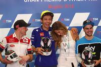 Valentino Rossi, mit Elonora Pedron, der Ex-Frau von Max Biaggi