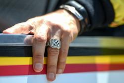 Helio Castroneves, Team Penske Chevrolet winners ring