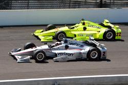 Juan Pablo Montoya, Team Penske Chevrolet, Simon Pagenaud, Team Penske Chevrolet