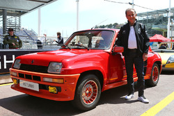 Jean Ragnotti, Rally Driver and Renault Ambassador, with a Renault 5 RS Turbo
