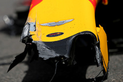 Car of Max Verstappen, Red Bull Racing after his crash
