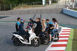 Riders at new chicane to replace turn 12