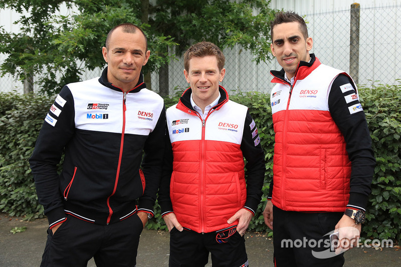 Stéphane Sarrazin, Anthony Davidson et Sébastien Buemi, Toyota Racing
