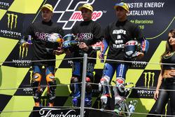 Brad Binder, Red Bull KTM Ajo, Jorge Navarro, Estrella Galicia 0,0, Enea Bastianini, Gresini Racing Team Moto3