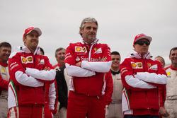 Себастьян Феттель, Ferrari та Мауріціо Аррівабене, Ferrari  та Кімі Райкконен, Ferrari