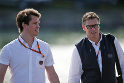 (L to R): Alan Van Der Merwe, FIA Medical Car Driver with Bernd Maylander, FIA Safety Car Driver