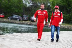 Kimi Raikkonen, Ferrari with Gino Rosato, Ferrari