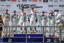 Podium: winners #5 Phoenix Racing Asia Audi R8 LMS GT3: Marchy Lee, Shaun Thong