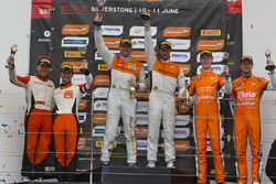 Podium: 2. Andreas Patzelt, Nicolaj Moller Madsen, PROsport Performance; 1. Peter Terting, Jörg Viebahn, PROsport Performance; 3. Simon Knap, Rob Severs, Racing Team Holland by Ekris Motorsport