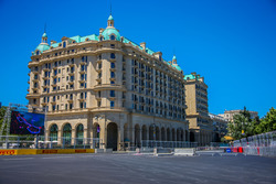 Circuito de la ciudad de Bakú, salida de la curva 16