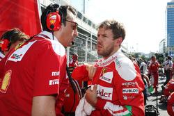 Sebastian Vettel, Ferrari op de startopstelling