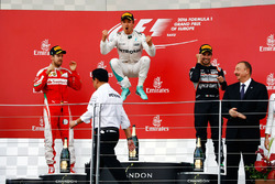Podium: 1. Nico Rosberg, Mercedes AMG F1; 3. Sergio Perez, Sahara Force India F1; 2. Sebastian Vettel, Ferrari