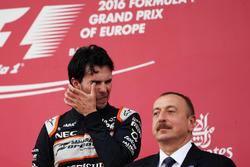 Третє місце Серхіо Перес, Sahara Force India F1 на подіумі