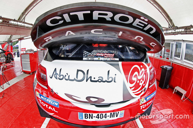 Деталь Citroën DS3 WRC, Abu Dhabi Total World Rally Team
