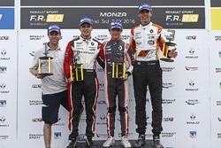 1. yarış podyum: 1. Lando Norris, Josef Kaufmann Racing, 2. Dorian Boccolacci, Tech 1 Racing, 3. Harrison Scott, AVF by Adrian Valles