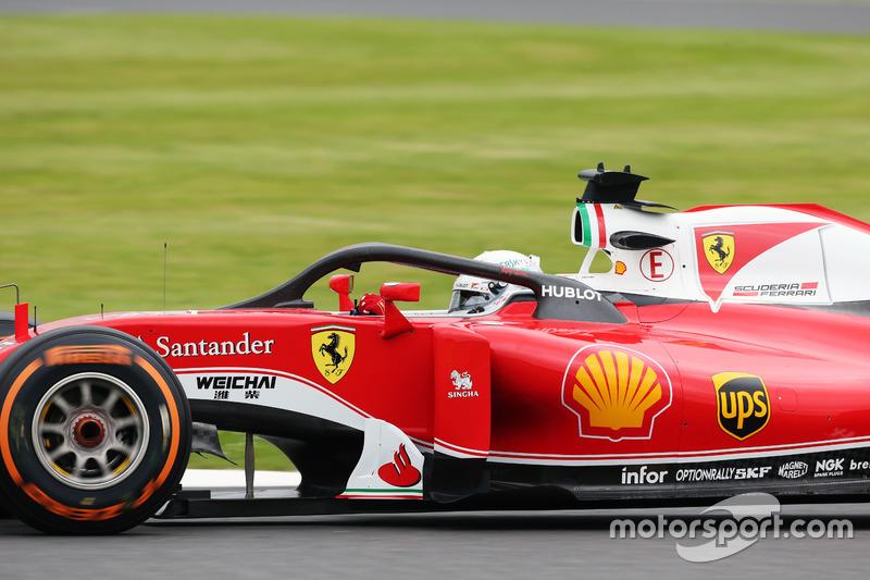 Sebastian Vettel, Ferrari SF16-H con la cubierta de la cabina Halo