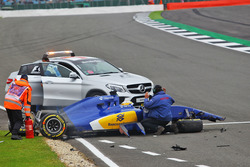Marcus Ericsson, Sauber C35 accidente en la tercera sesión de libres