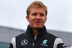 Nico Rosberg, Mercedes AMG F1 nella sfilata dei piloti