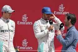 Podium: Nico Rosberg, Mercedes AMG F1; Lewis Hamilton, Mercedes AMG F1; Mark Webber, Channel 4