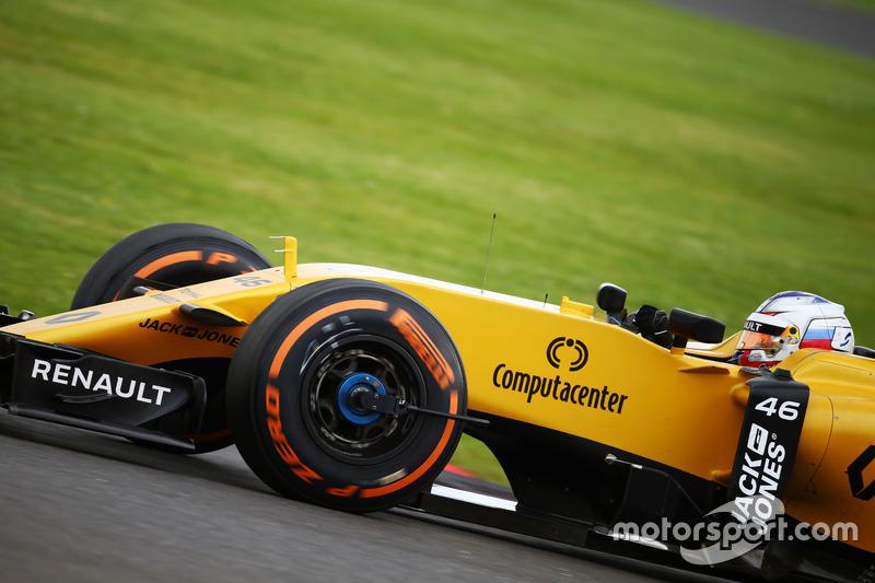 Renault RS16: Messgerät für Kräfte am Rad