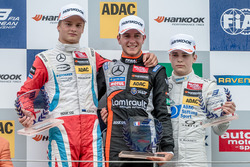 Podium Rookies, Ralf Aron, Prema Powerteam Dallara F312 - Mercedes-Benz, Anthoine Hubert, Van Amersfoort Racing Dallara F312 - Mercedes-Benz, David Beckmann, kfzteile24 Mücke Motorsport Dallara F312 - Mercedes-Benz