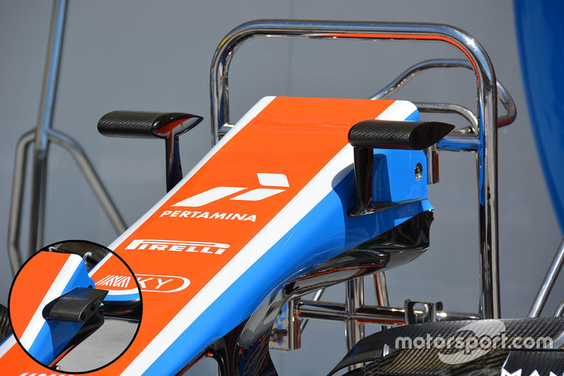 Manor Racing cameramontages detail