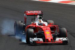 Sebastian Vettel, Ferrari SF16-H va al bloccaggio in frenata