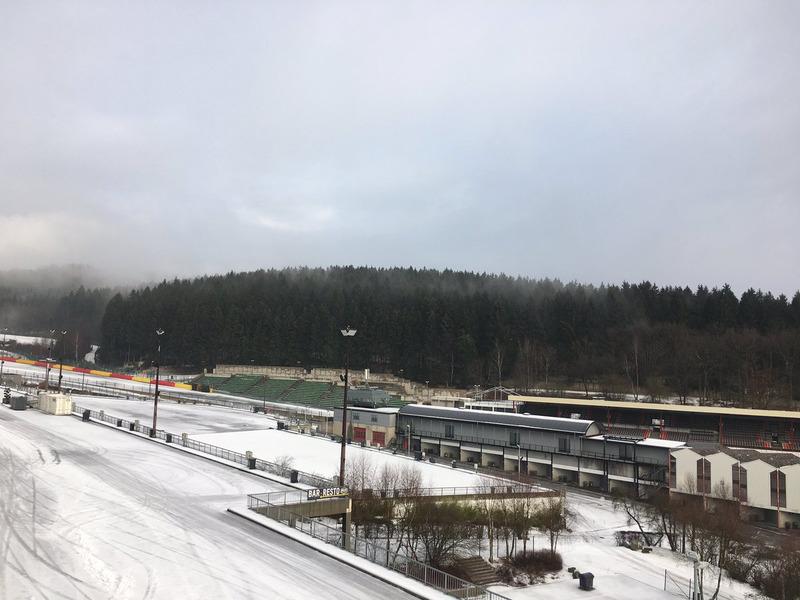 Spa-Francorchamps nevado. Foto: Spa-Francorchamps