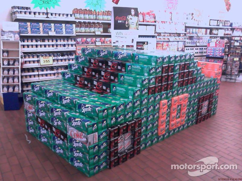 Danica Patricks race car made out of Coke products