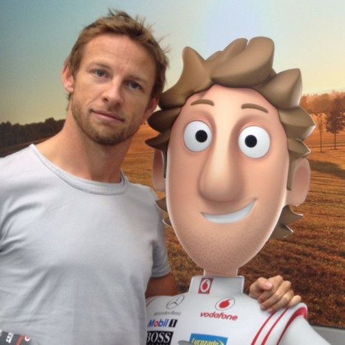 Jenson Button and his best friend