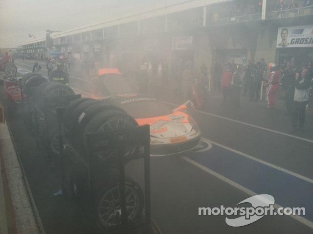 pit lane aftermath