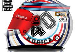 Robert Kubica 2018 helmet