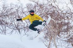 Lewis Hamilton Snowboarding