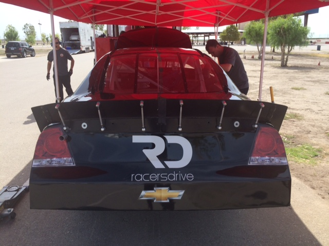 View from the Rear of the Racers Drive Supported Jack Sellers stock car of Michael Shawhan