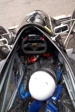 Inside a Formula Jedi car