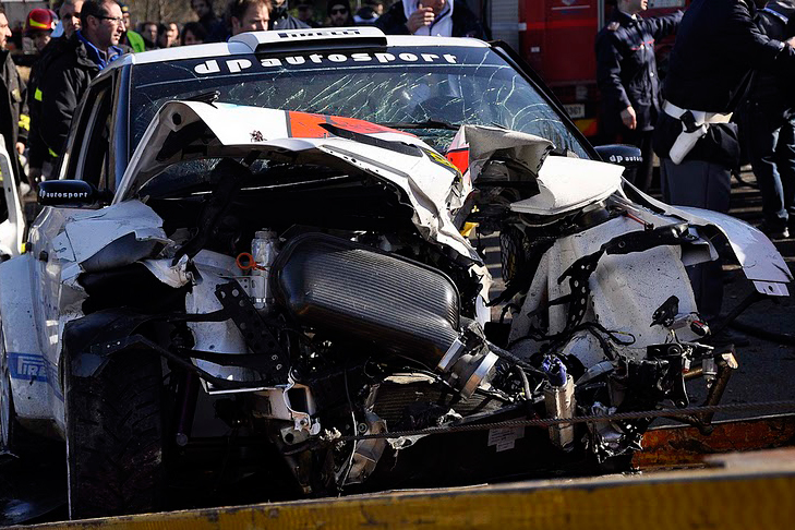 Автомобиль Роберта Кубицы после аварии