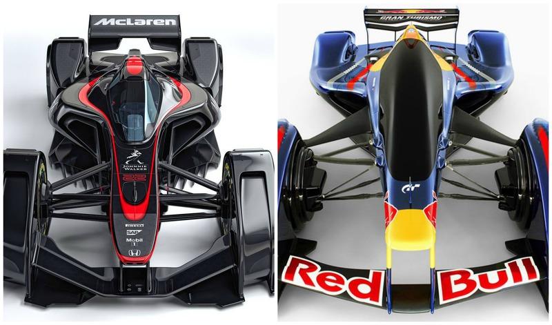 Im Vergleich: Die Designstudien von McLaren und Red Bull