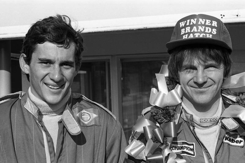 Айртон Сенна и Рик Моррис. Этап Формулы Ford 1600, Брэндс-Хэтч. 1981 год