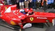 A Ferrari on the streets of Rotterdam