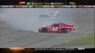 Montoya and Kahne Trade Paint - Pocono Raceway 2011